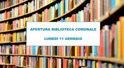 Apertura Biblioteca Comunale
