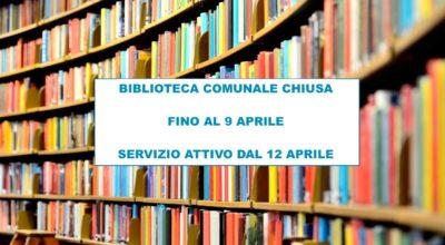 Biblioteca chiusa fino al 9 aprile