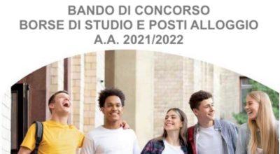 Bando di concorso per l'assegnazione di borse di studio e posti alloggio A.A. 2021/2022