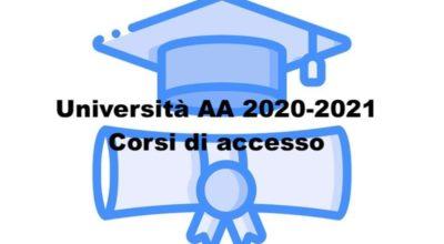 Università AA 2020-2021 – Corsi di accesso
