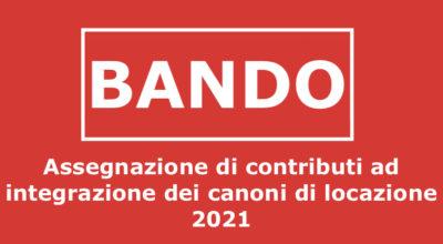Assegnazione di contributi ad integrazione dei canoni di locazione 2021